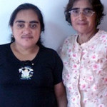 Reina Peraza Argueta y Juana Argueta  (Apoyo / Recuperación de la vista)